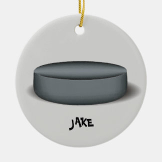 Hockey Puck Photo Ornament