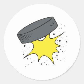 Hockey Puck Round Sticker