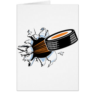 Hockey Puck Smash Card