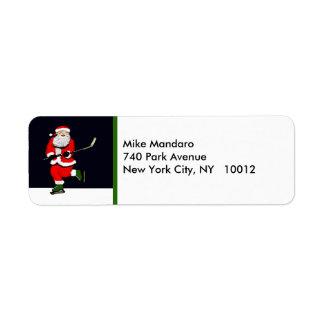 hockey return-address holiday labels