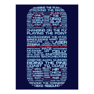 Hockey Rink Typography Party Invitations