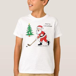 Hockey Santa Christmas Youth T-Shirt