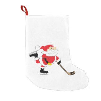 Hockey Santa Skating Stocking