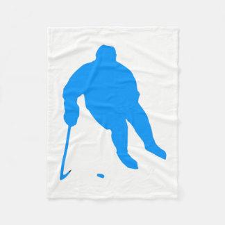 Hockey Silhouette Fleece Blanket
