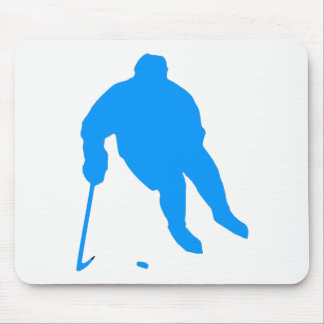 Hockey Silhouette Mouse Pad