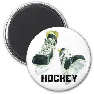 Hockey Skates 6 Cm Round Magnet