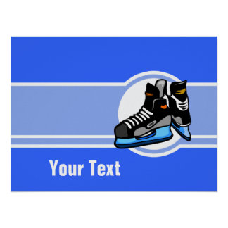Hockey Skates; Blue Poster