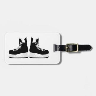 Hockey skates luggage tag