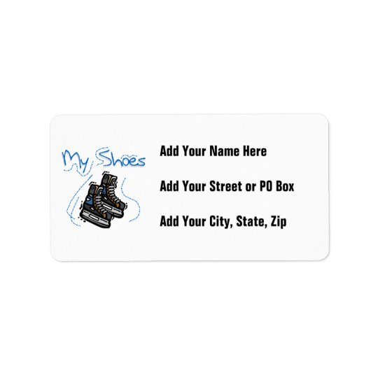 Hockey Skates My Shoes T-shirts and Gifts Address Label