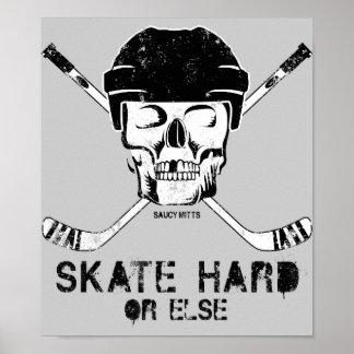 Hockey Skull Poster