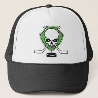 hockey skull trucker hat