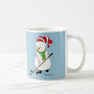 Hockey Snowman Mug