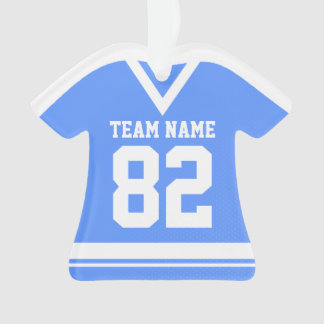Hockey Sports Jersey Blue with Photo Ornament