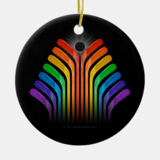 Hockey Stick Spectrum Ceramic Ornament