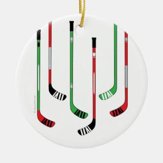 Hockey Sticks Christmas Ornament