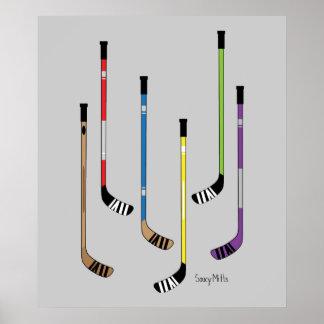 Hockey Sticks Poster