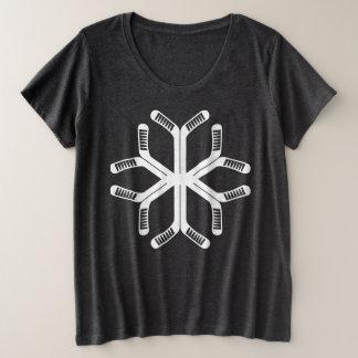 Hockey Sticks Snowflake Women's Plus Tee