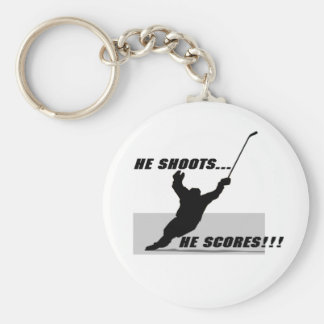 Hockey T-shirts and Gifts. Basic Round Button Key Ring