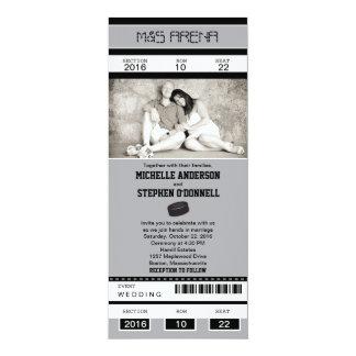 Hockey Ticket Wedding Invitation