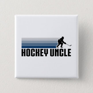 Hockey Uncle 15 Cm Square Badge