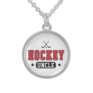 Hockey Uncle Sterling Silver Necklace