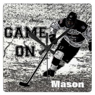 Hockey Wall Clock Personalised Custom
