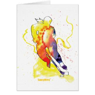 Hockey Watercolor Greeting Card
