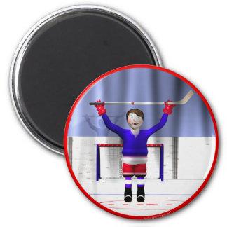Hockey Winner 6 Cm Round Magnet