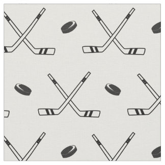 Hockey x in black and white fabric