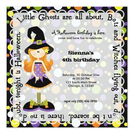 Hocus Pocus Birthday Party Card