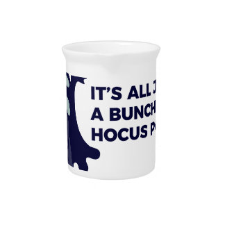 Hocus Pocus Ghost Boo Halloween Design Pitcher