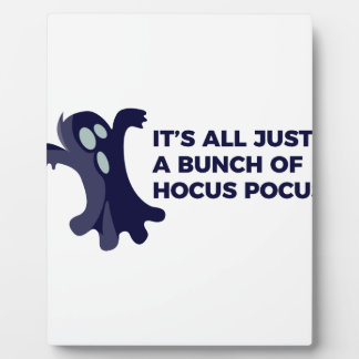 Hocus Pocus Ghost Boo Halloween Design Plaque