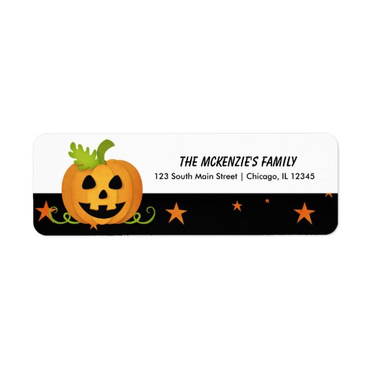 Hocus Pocus Pumpkin Return Address Label