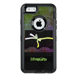 Hodge-Podge-Lime-Monogram-Mod-Apple-Samsung OtterBox Defender iPhone Case