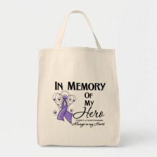 Hodgkin Lymphoma In Memory of My Hero Grocery Tote Bag