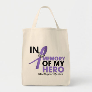 Hodgkin Lymphoma Tribute In Memory of My Hero Grocery Tote Bag