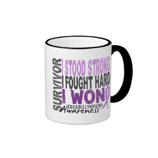 Hodgkins Lymphoma aka Hodgkin's Disease Survivor 4 Ringer Mug