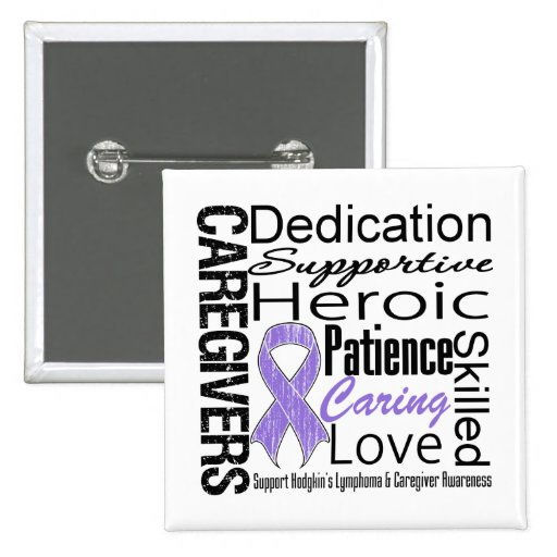 Hodgkins Lymphoma Caregivers Collage Pins