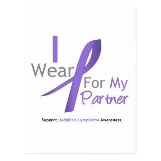 Hodgkin's Lymphoma I Wear Violet Ribbon Partner Postcard
