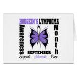 Hodgkins Lymphoma Month Butterfly Awareness Cards