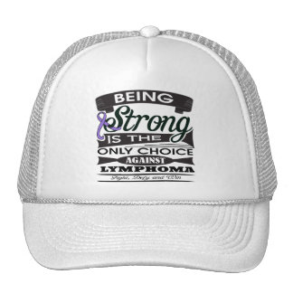 Hodgkins Lymphoma Strong v2 png Trucker Hat
