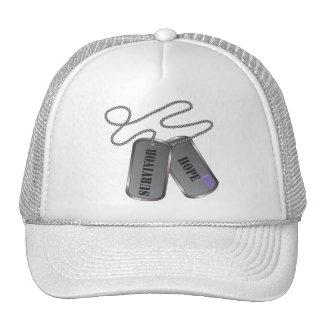 Hodgkins Lymphoma Survivor Hope Dog Tags Hats