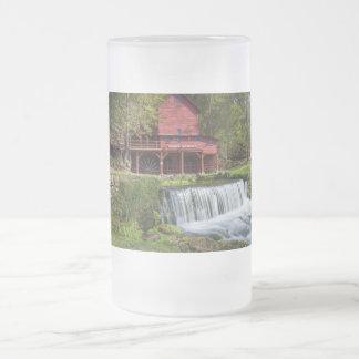 Hodgson Mill Landscape Frosted Glass Beer Mug