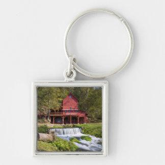 Hodgson Mill Portrait Silver-Colored Square Key Ring