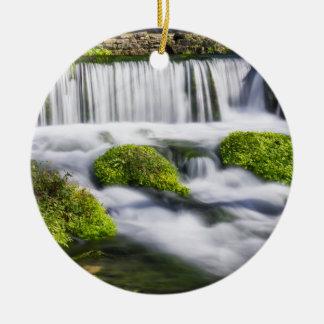 Hodgson Spring Falls Round Ceramic Decoration