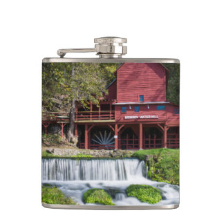 Hodgson Water Mill Landscape Hip Flask