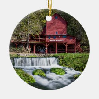 Hodgson Water Mill Landscape Round Ceramic Decoration