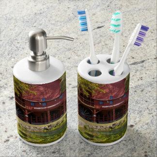 Hodgson Water Mill Soap Dispenser And Toothbrush Holder