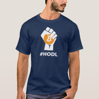 HODL Bitcoin BTC: White T-Shirt