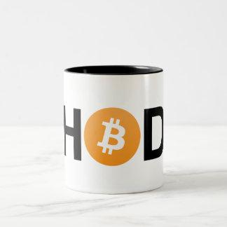 #HODL Bitcoin Two-Tone Mug